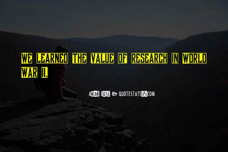Amar Bose Quotes #1084470