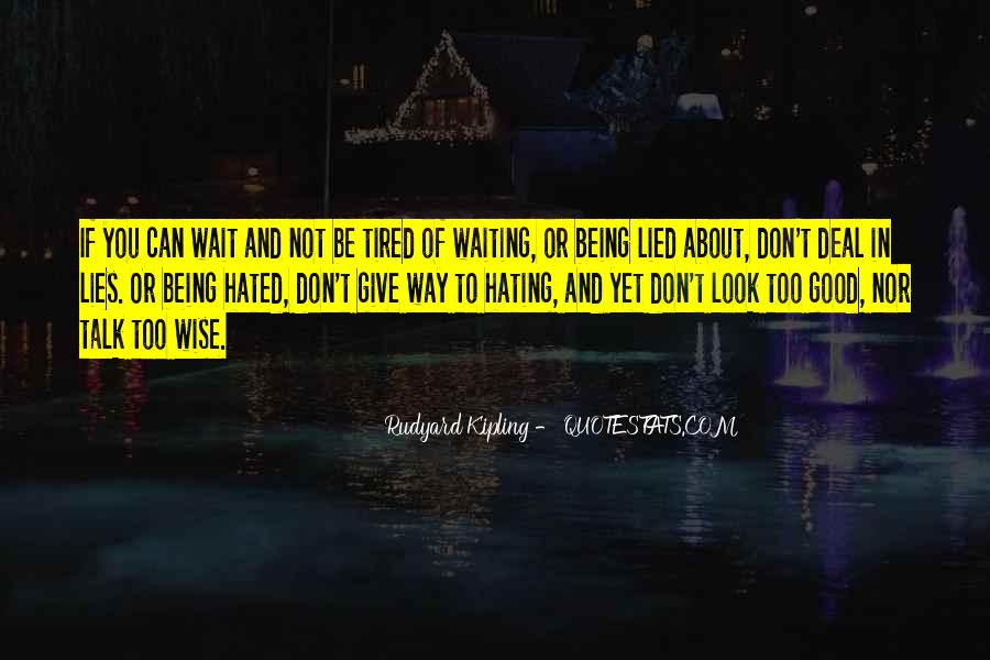 Quotes About Being Lied To #138437
