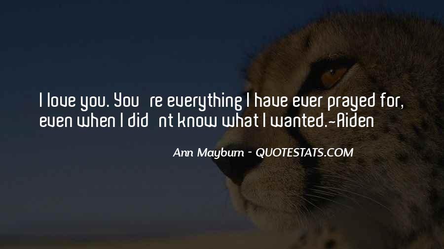 Ann Mayburn Quotes #1376469