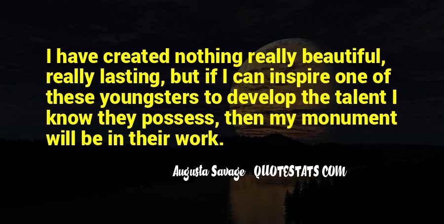 Augusta Savage Quotes #1167500