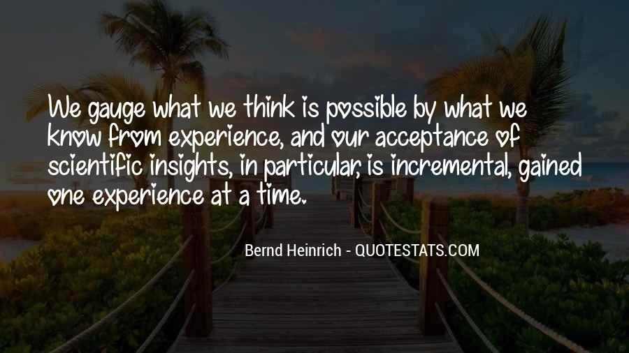 Bernd Heinrich Quotes #1090939