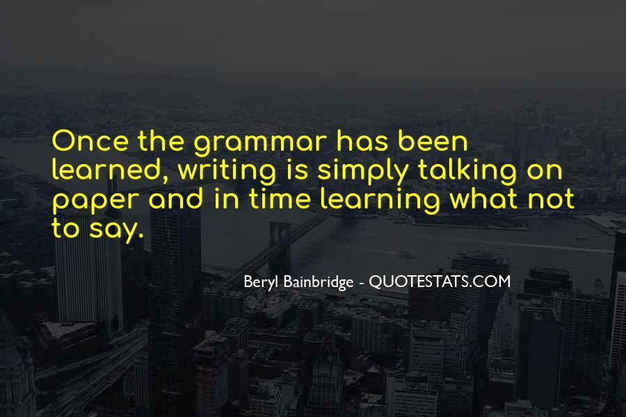 Beryl Bainbridge Quotes #215920