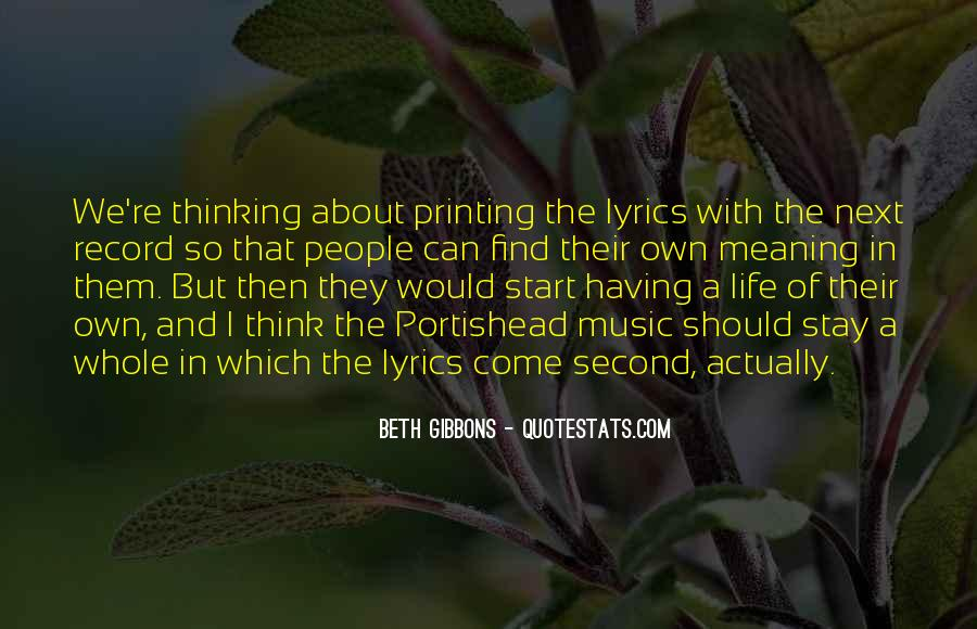 Beth Gibbons Quotes #435961