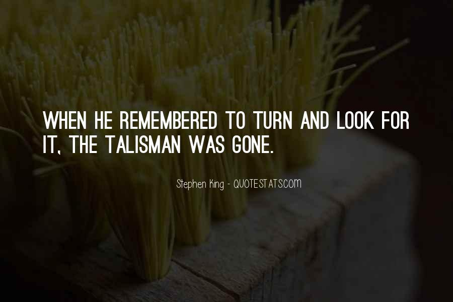 Quotes About Talisman #276886