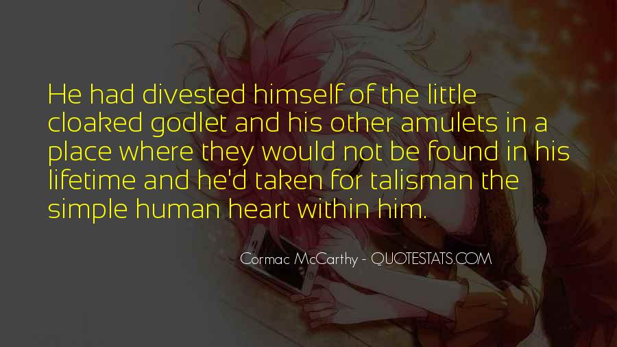 Quotes About Talisman #488467
