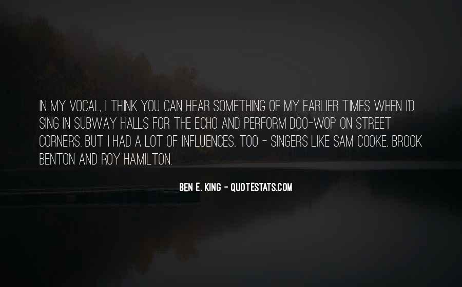 Brook Benton Quotes #1494293