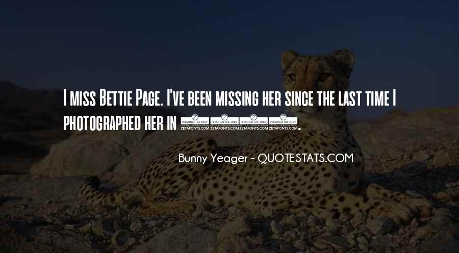 Bunny Yeager Quotes #1006431