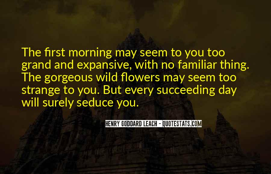 Quotes About Morning And Flowers #852396
