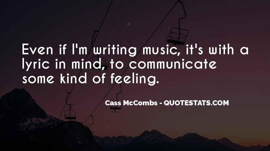 Cass Mccombs Quotes #1721725