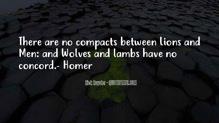 Quotes About Wolves And Lions #1081914