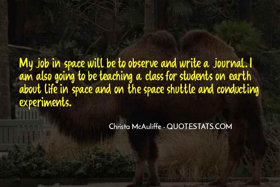 Christa Mcauliffe Quotes #258096