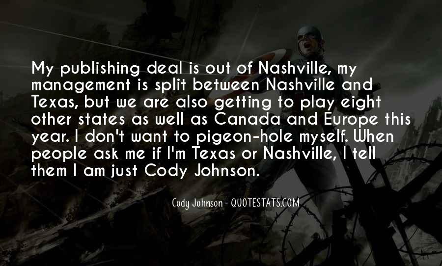 Cody Johnson Quotes #323259