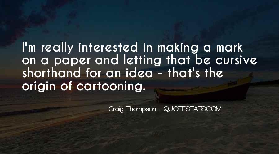 Craig Thompson Quotes #1404279