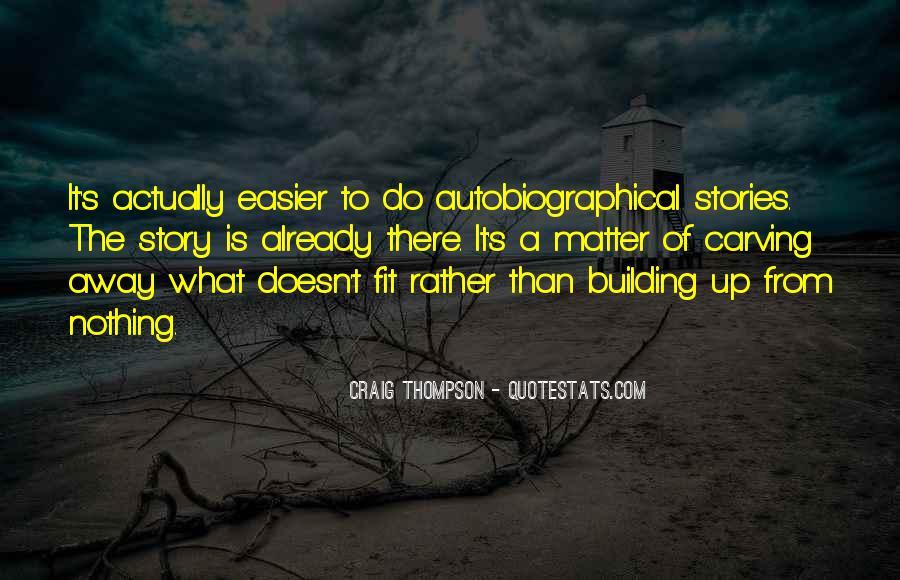 Craig Thompson Quotes #1677414