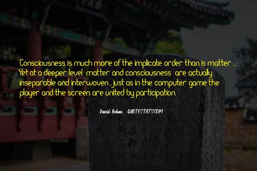 David Bohm Quotes #132415