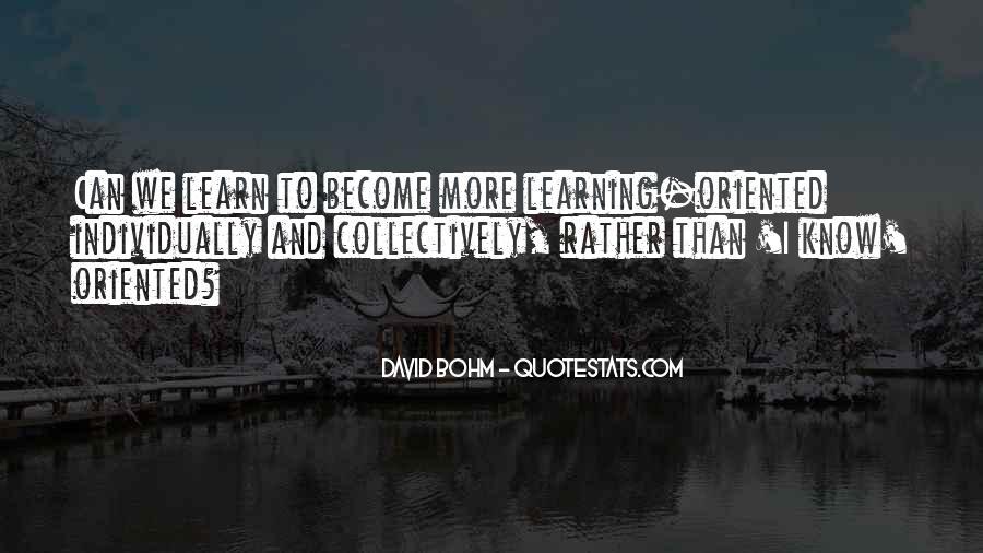 David Bohm Quotes #79652