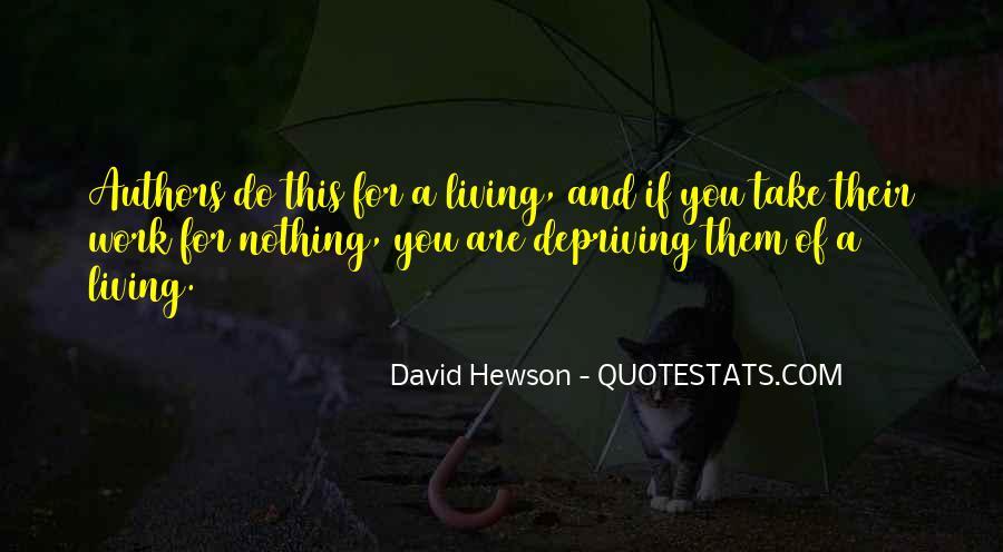 David Hewson Quotes #995609