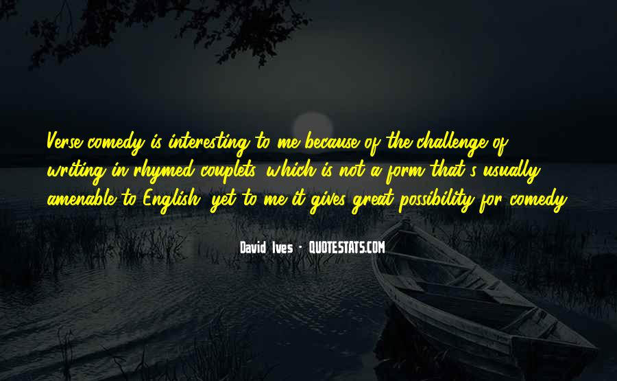 David Ives Quotes #615050