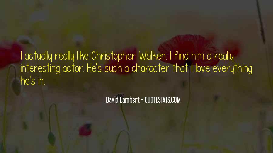 David Lambert Quotes #343166