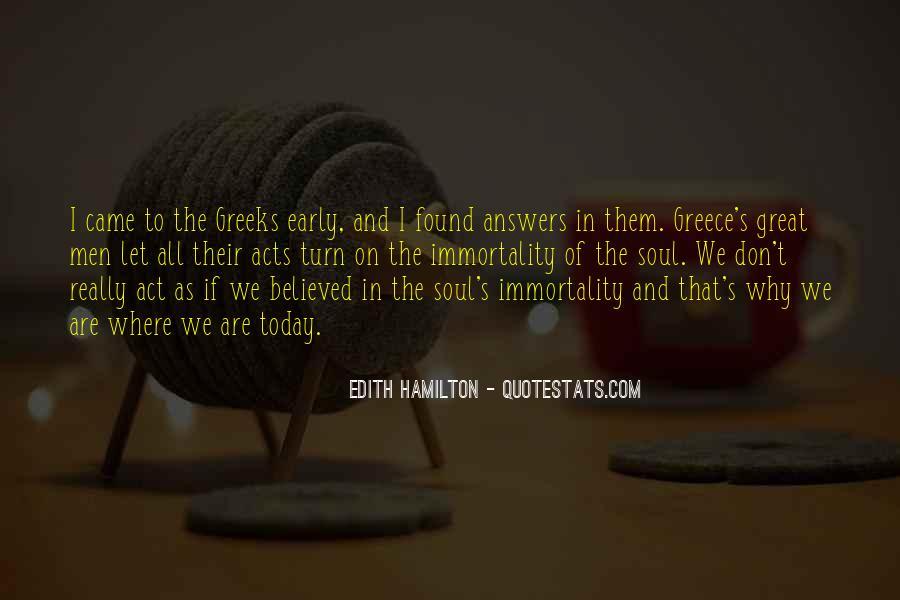 Edith Hamilton Quotes #664141