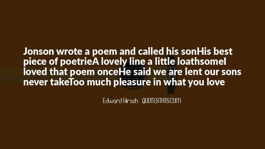 Edward Hirsch Quotes #206269