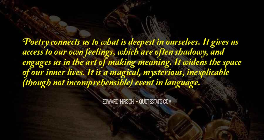 Edward Hirsch Quotes #228606