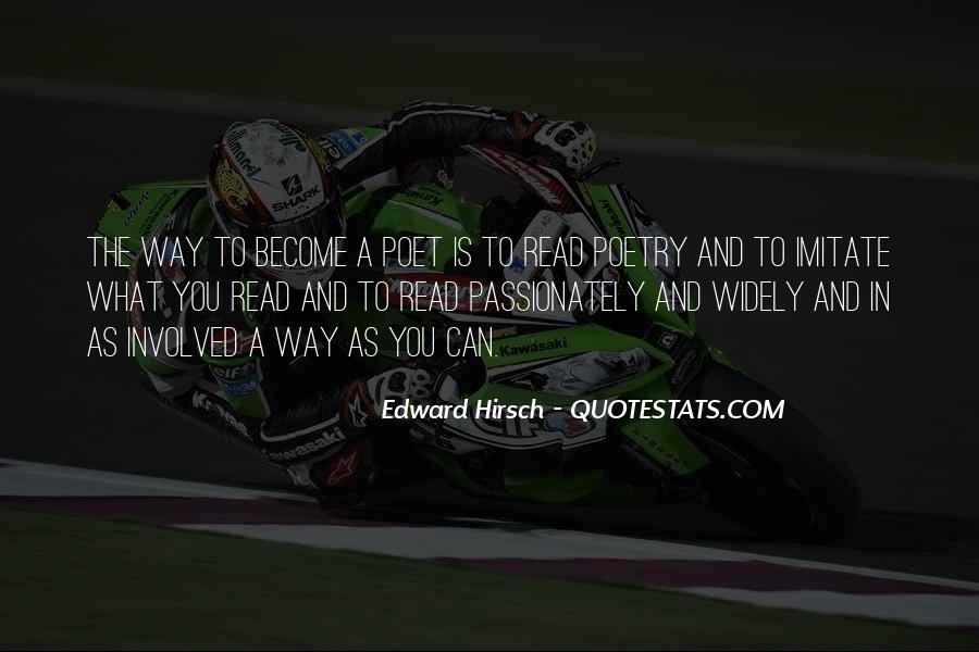 Edward Hirsch Quotes #297251