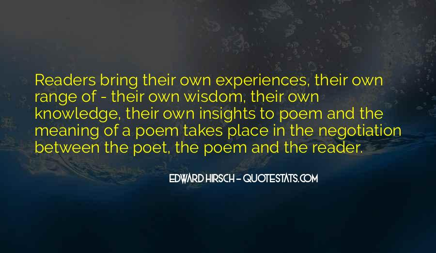 Edward Hirsch Quotes #302750