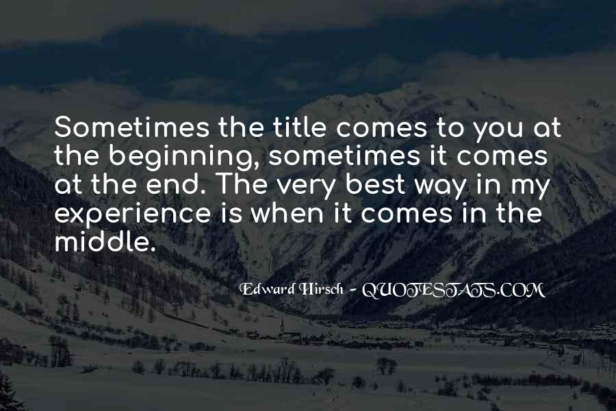 Edward Hirsch Quotes #436761