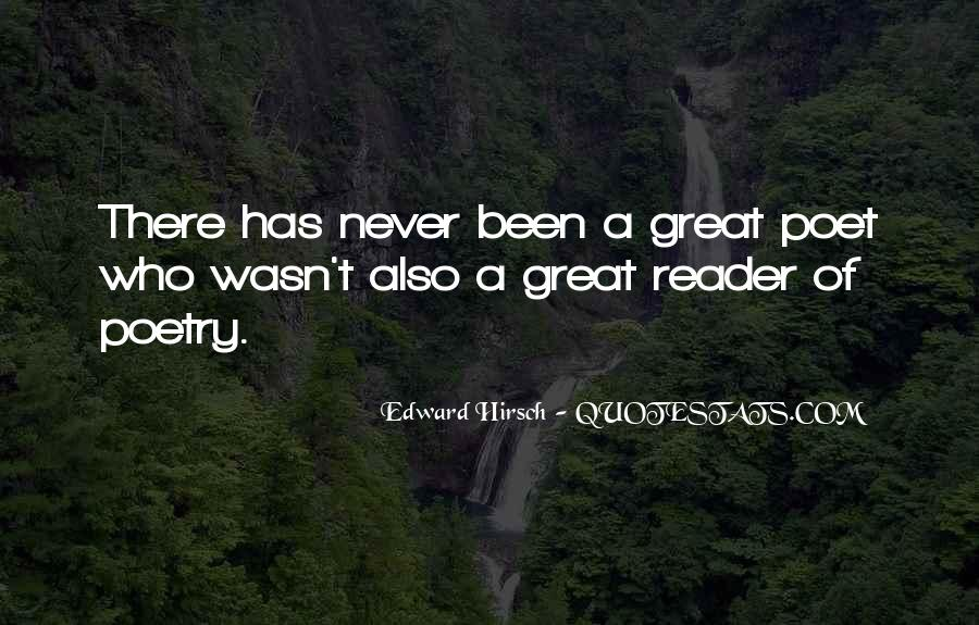 Edward Hirsch Quotes #587925