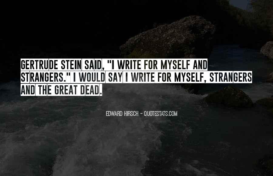 Edward Hirsch Quotes #845999