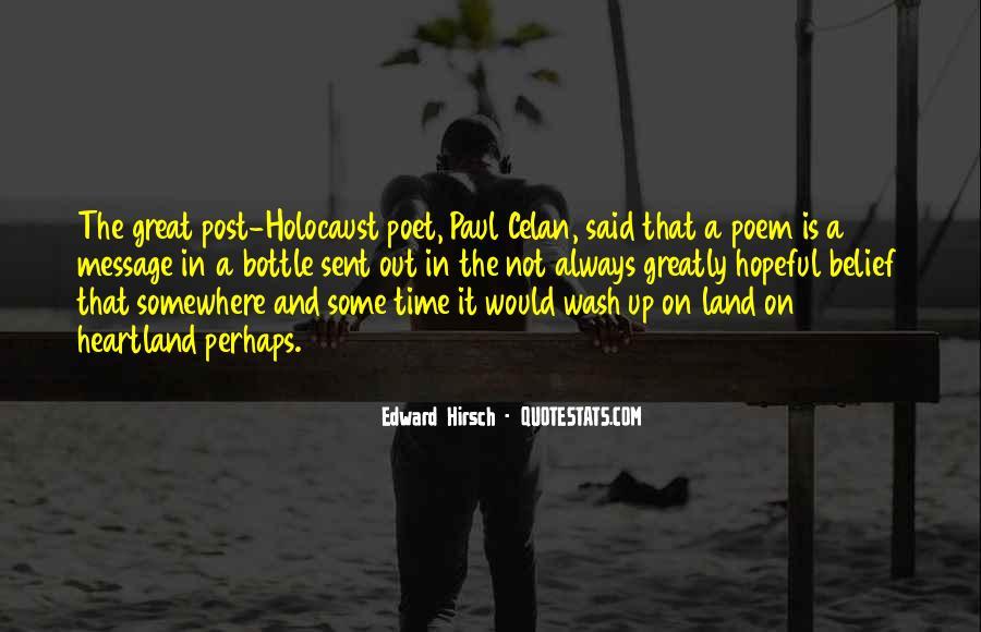 Edward Hirsch Quotes #882054