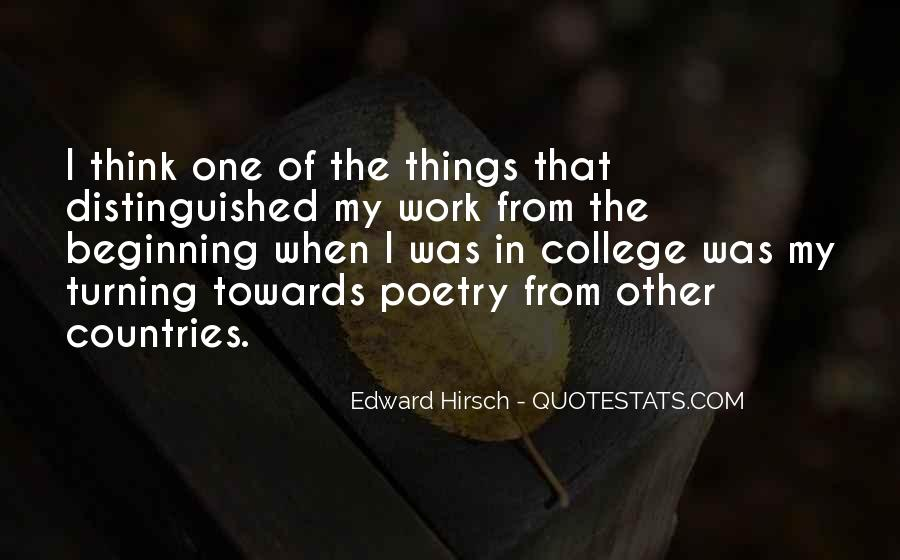 Edward Hirsch Quotes #941927