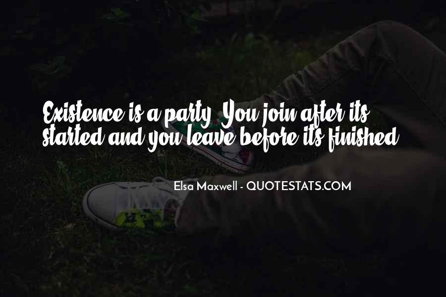 Elsa Maxwell Quotes #1808941
