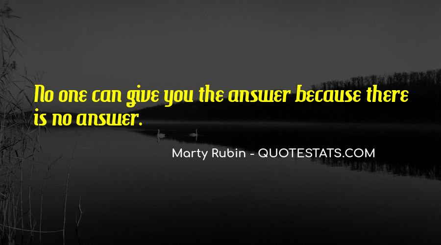 Quotes About No Answers #132499