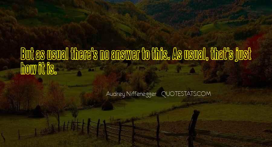 Quotes About No Answers #138509