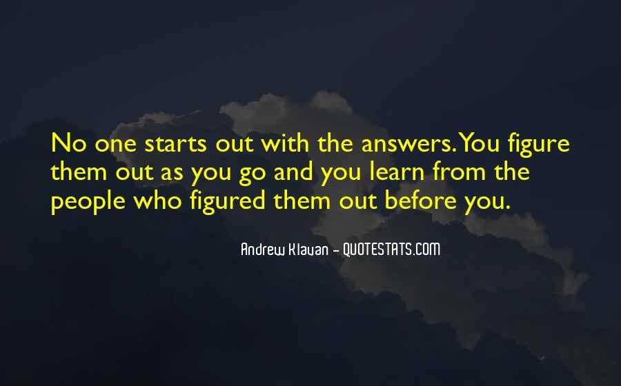 Quotes About No Answers #138905