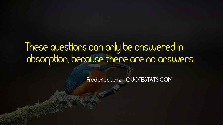 Quotes About No Answers #141153