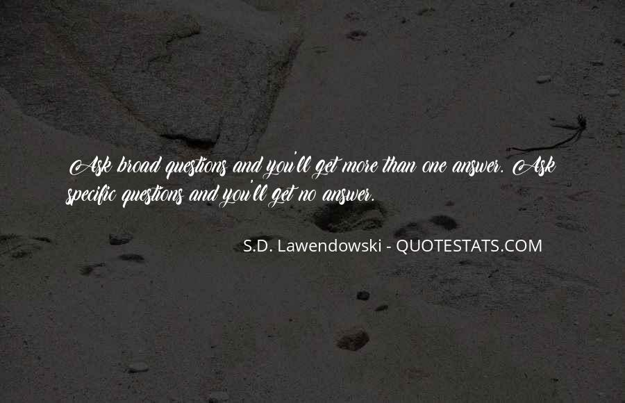 Quotes About No Answers #142590