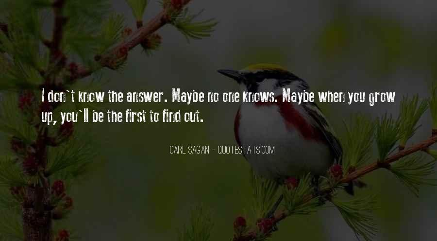 Quotes About No Answers #22142