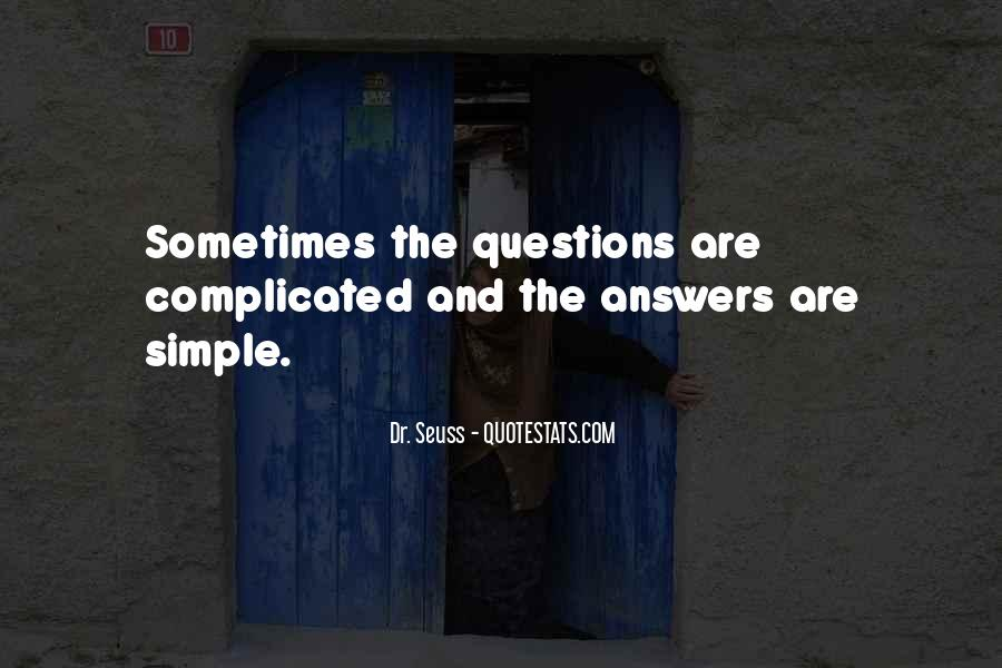 Quotes About No Answers #249154