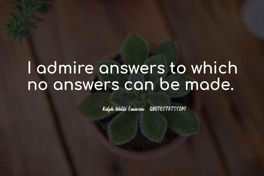 Quotes About No Answers #285646