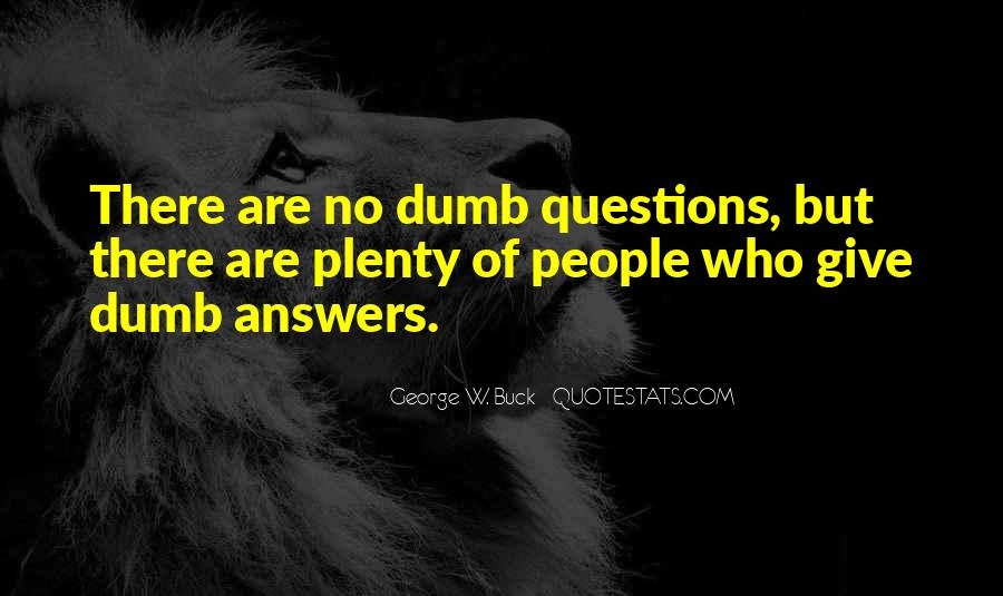 Quotes About No Answers #303953