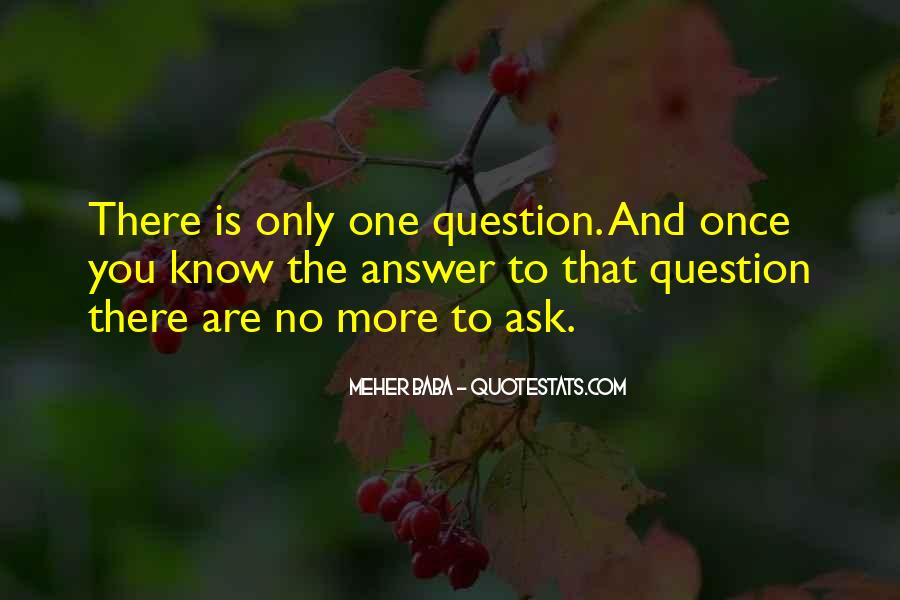 Quotes About No Answers #336955