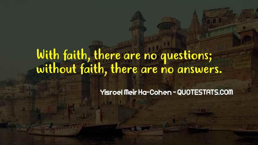 Quotes About No Answers #373427