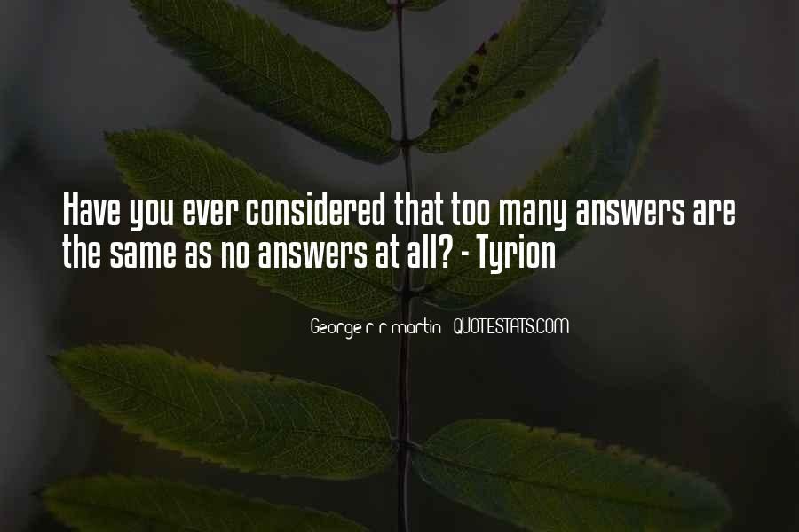 Quotes About No Answers #401050