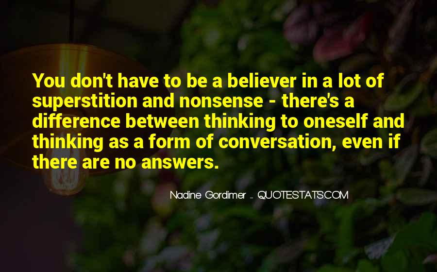 Quotes About No Answers #64059