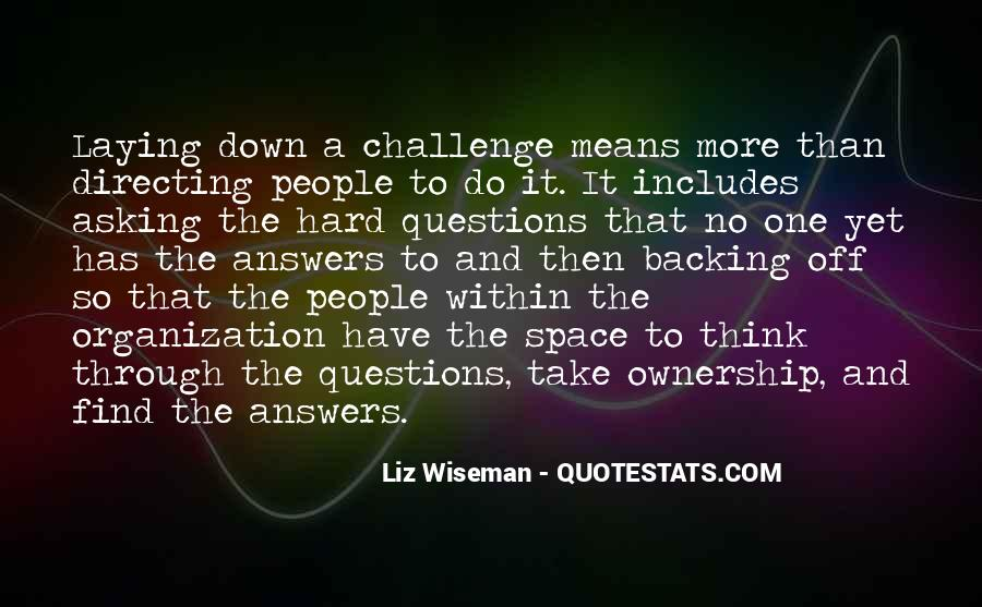 Quotes About No Answers #6774
