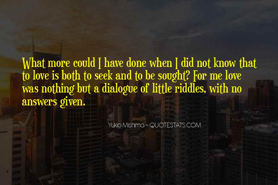 Quotes About No Answers #68009