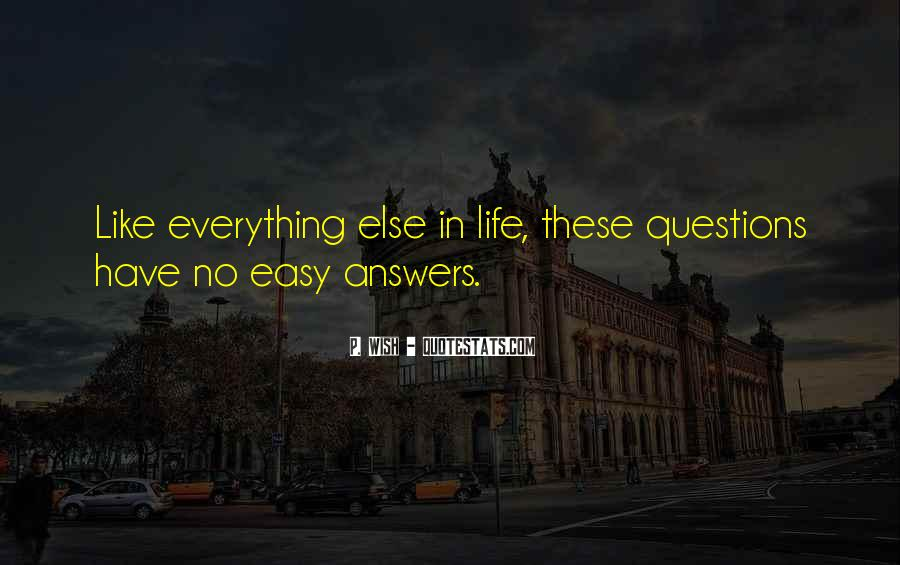Quotes About No Answers #96495